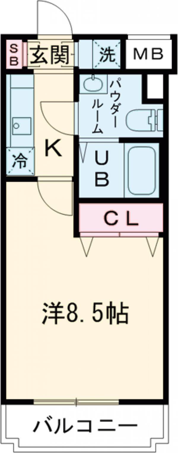 GENOVIA田町skygarden・202号室の間取り