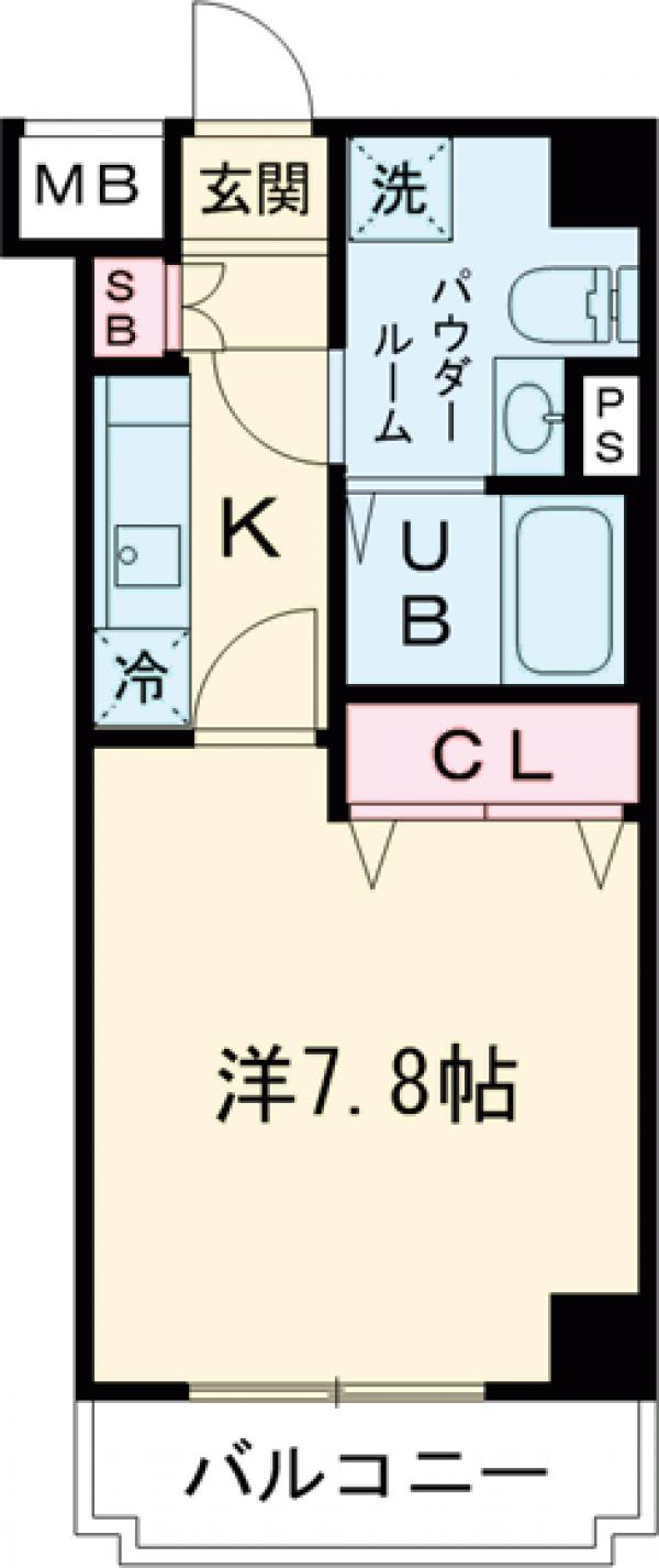 GENOVIA田町skygarden・203号室の間取り