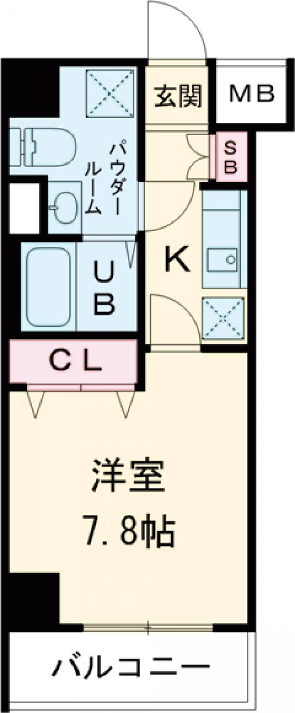 GENOVIA田町skygarden・204号室の間取り