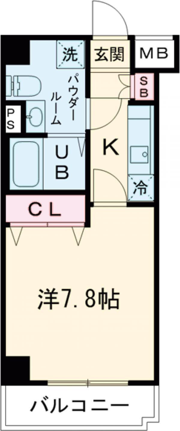 GENOVIA田町skygarden・304号室の間取り