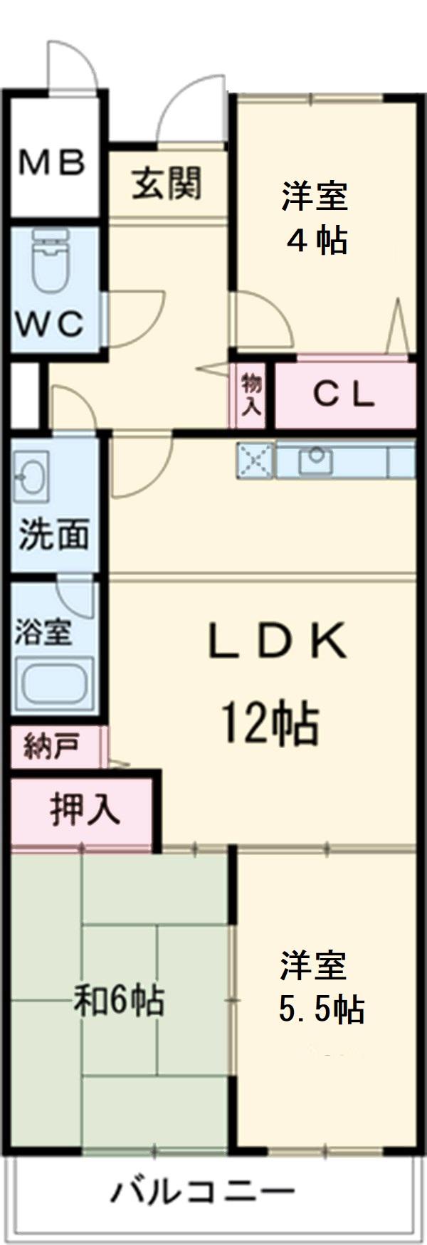 第2奥村マンション 2A号室の間取り