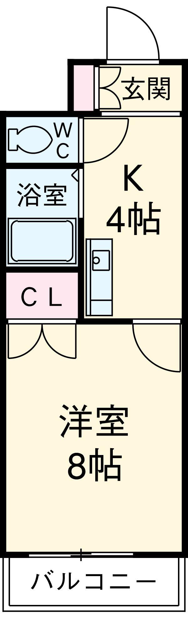 第2メゾンⅠ・405号室の間取り