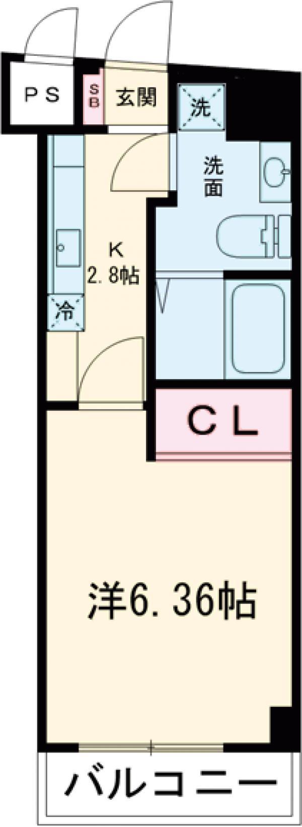 旗ヶ岡アパートメント 703号室の間取り