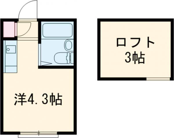 ハイテラス石川台 B205号室の間取り