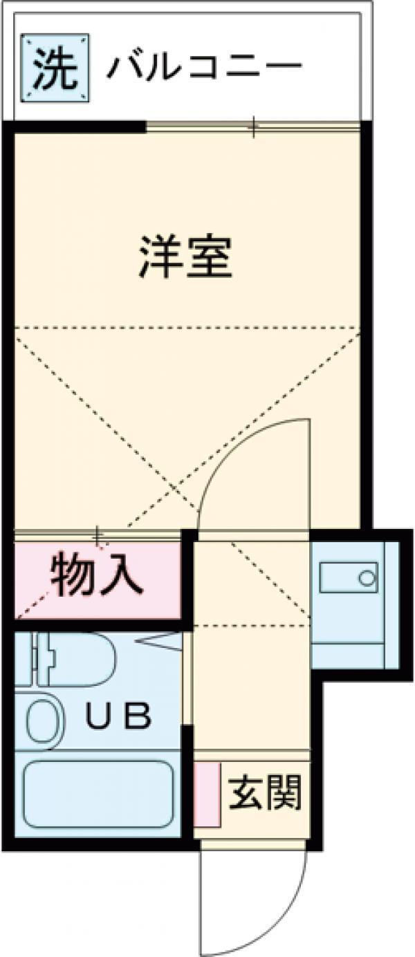 フォーシム蒲田Ⅰ・203号室の間取り