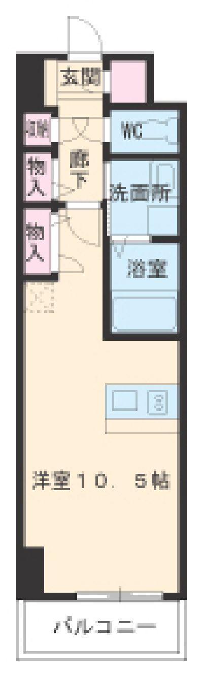 IWATSUKA RISE・202号室の間取り