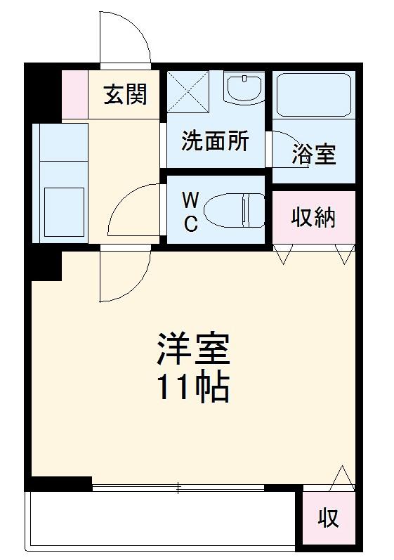 第一中央ビルディング 305号室の間取り