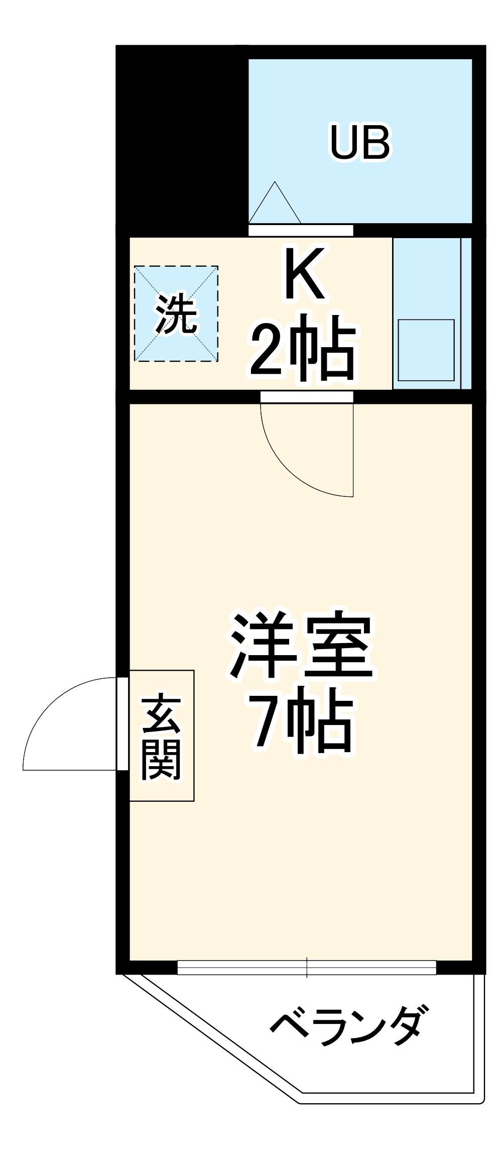 打中SKYマンションⅠ・3A号室の間取り