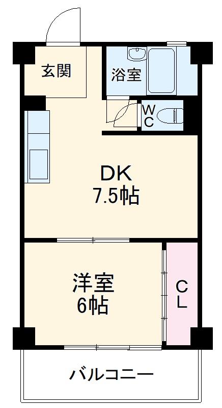 第1三鈴ビル 406号室の間取り