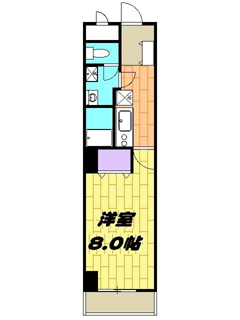 エミナンス丸山台・605号室の間取り