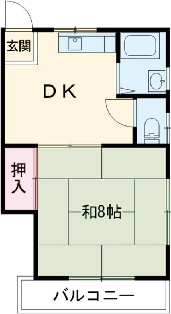 秀和荘 201号室の間取り