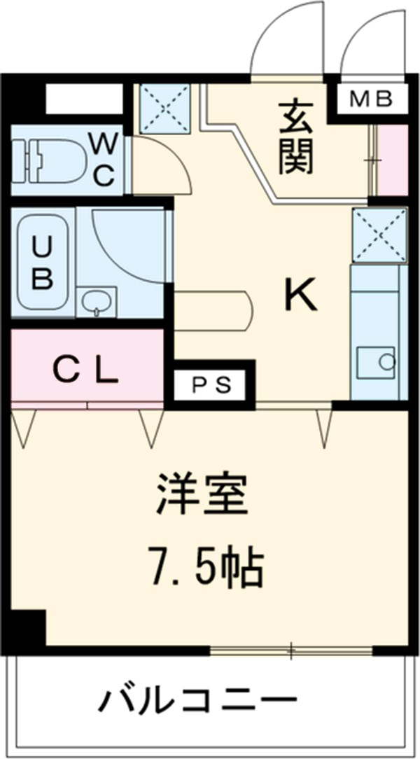DAIMAN HOUSE 七宝 408号室の間取り