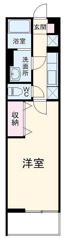 サンキエム 1-B号室の間取り