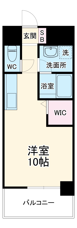 OT.residence名駅・3B号室の間取り