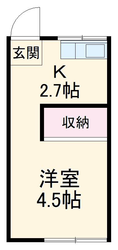 田島コーポ・206号室の間取り