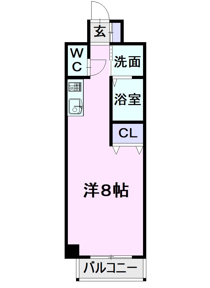 サン・名駅太閤ビル・1106号室の間取り