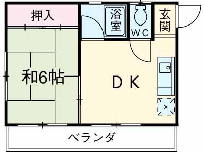 コーポ・キー・202号室の間取り