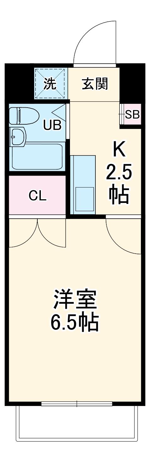 ミルプランタン2e・102号室の間取り
