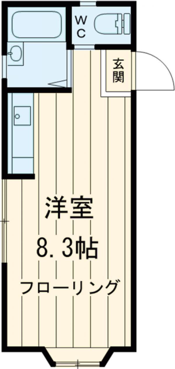 長田ハイツ2・202号室の間取り