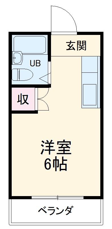 高津マンション・303号室の間取り