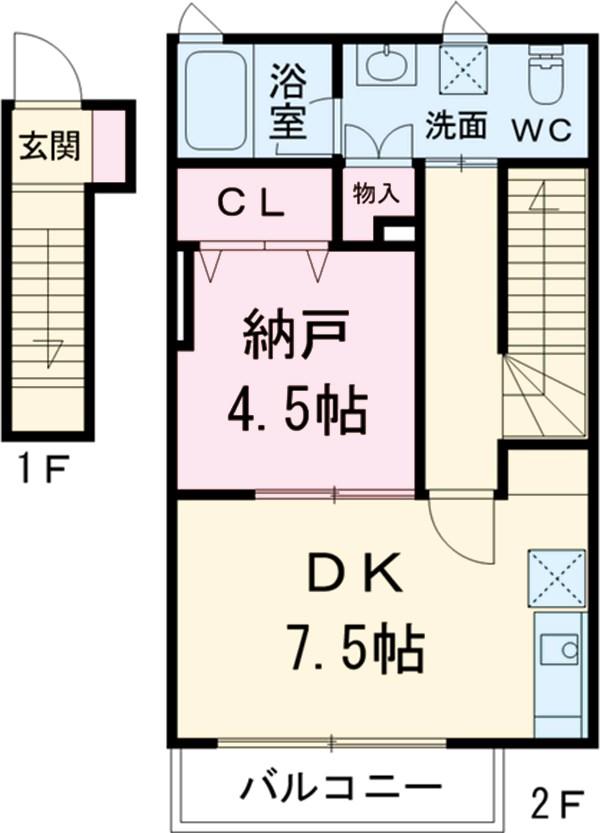 リエブル湘南・K4号室の間取り