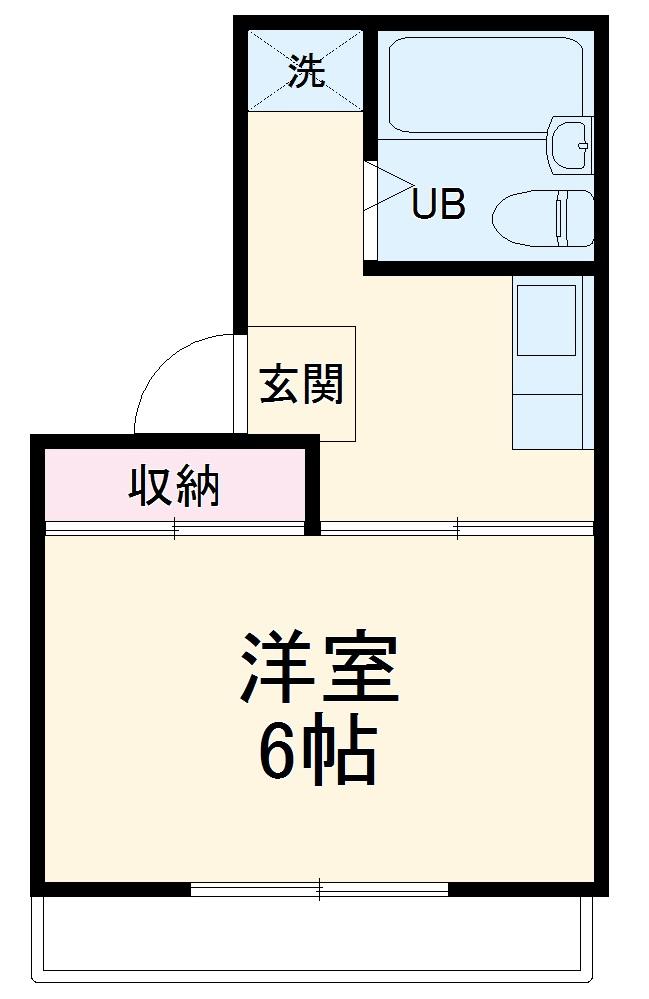 ジュネス湘南・107号室の間取り