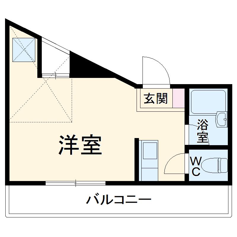 パルク横浜・201号室の間取り