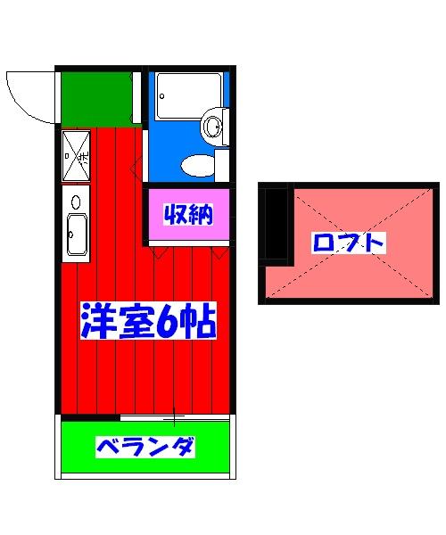 メルパラッツォⅡ 102号室の間取り
