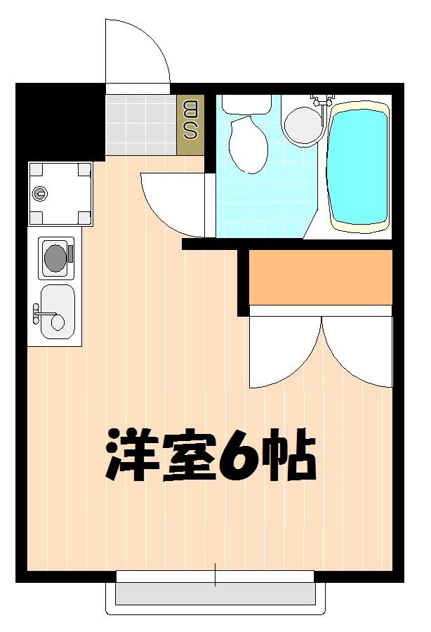ハイツ田喜野井・203号室の間取り