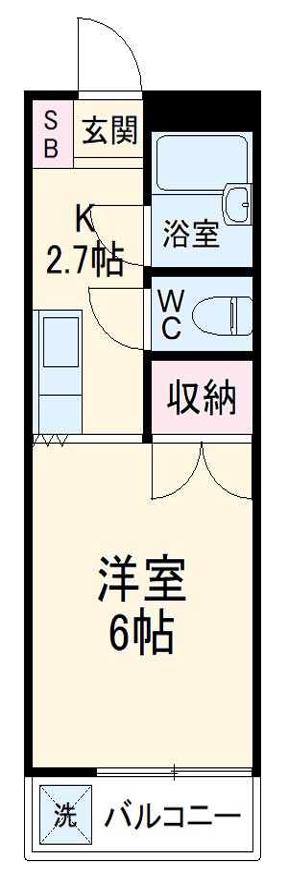 フェニックス・斉藤・101号室の間取り