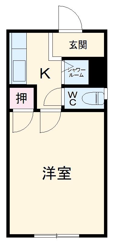 藤ヶ丘コーポ・202号室の間取り