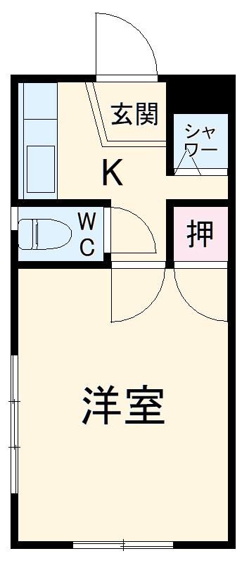 藤ヶ丘コーポ・301号室の間取り