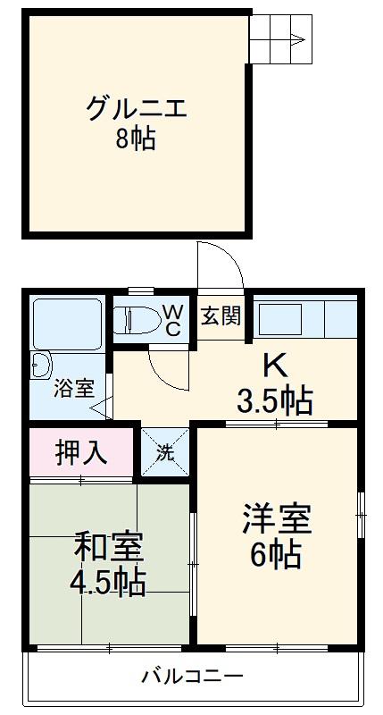 サン・クレール横浜 A202号室の間取り