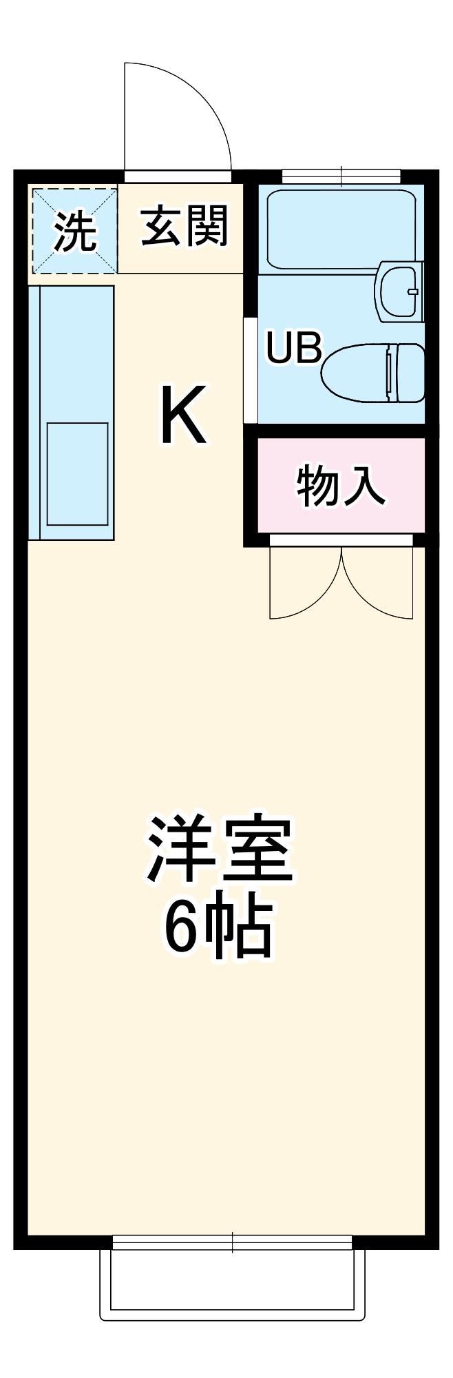 エステートピア岩崎台・202号室の間取り