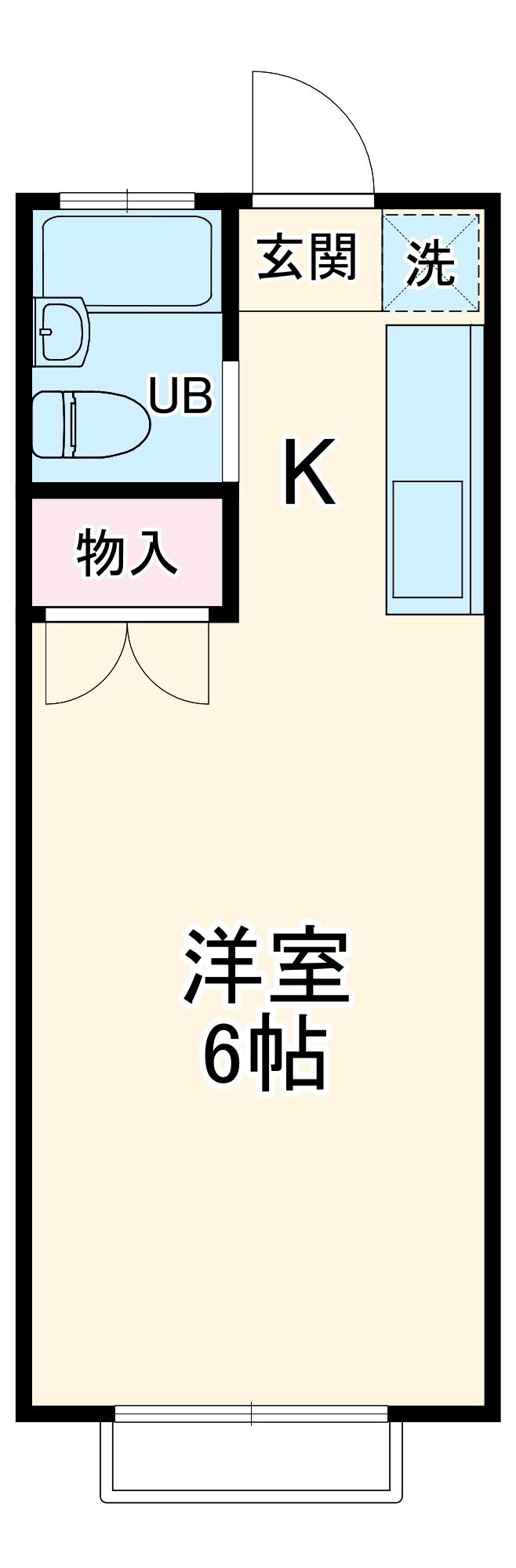 エステートピア岩崎台・208号室の間取り