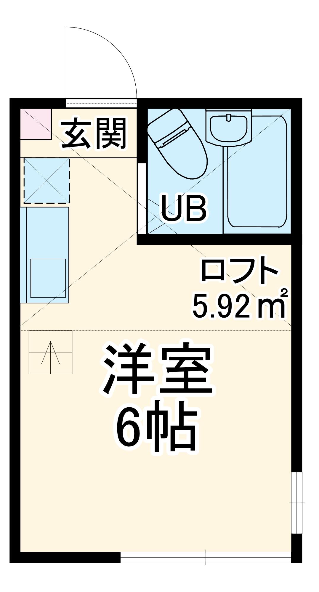 ユナイトステージ南太田 103号室の間取り