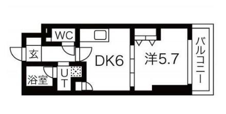 エムエー大口マンション・406号室の間取り