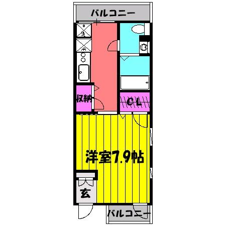 JPN・202号室の間取り