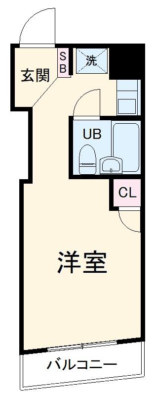 リーヴェルステージ横浜南・505号室の間取り
