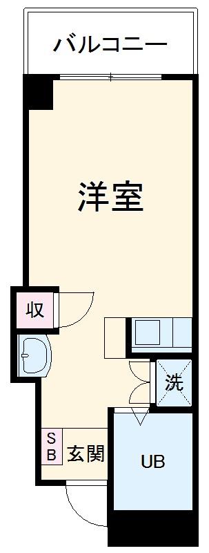 リーヴェルステージ横浜南・508号室の間取り