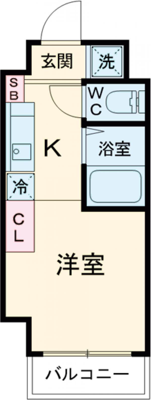 Hoshi第2マンション・203号室の間取り