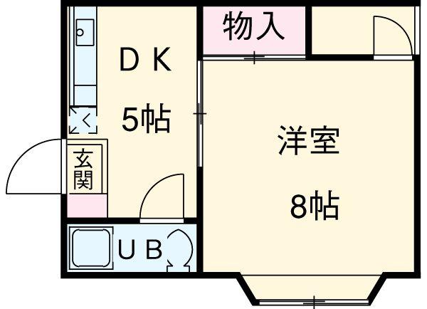 第1松田ビル・305号室の間取り