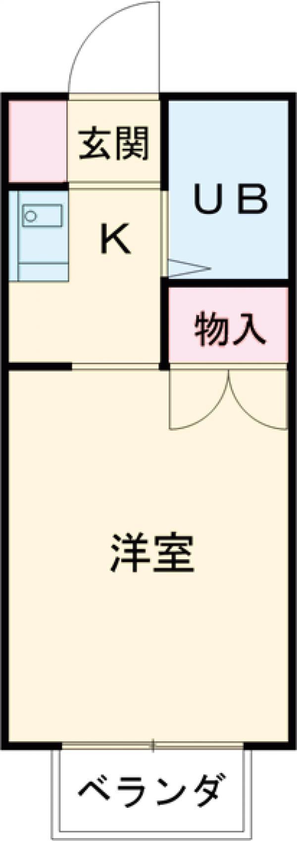 シャトー武蔵野・105号室の間取り
