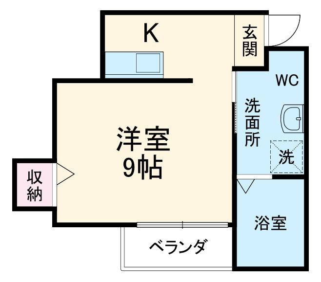 プログレス津田沼・203号室の間取り