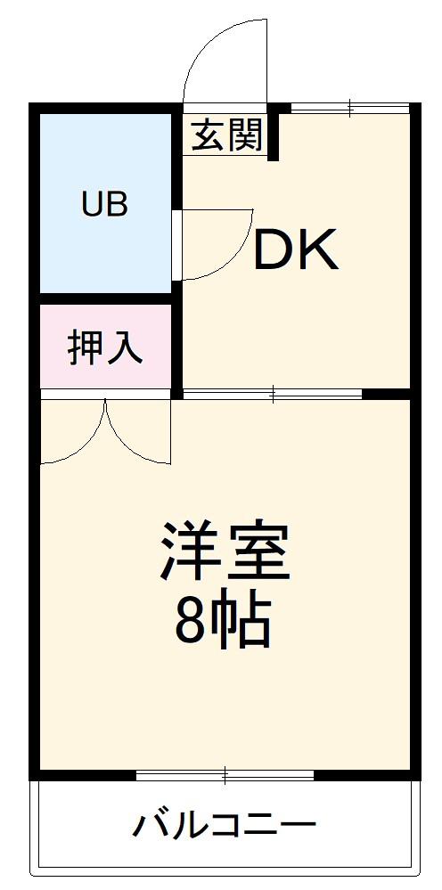 シャトウ山田・102号室の間取り