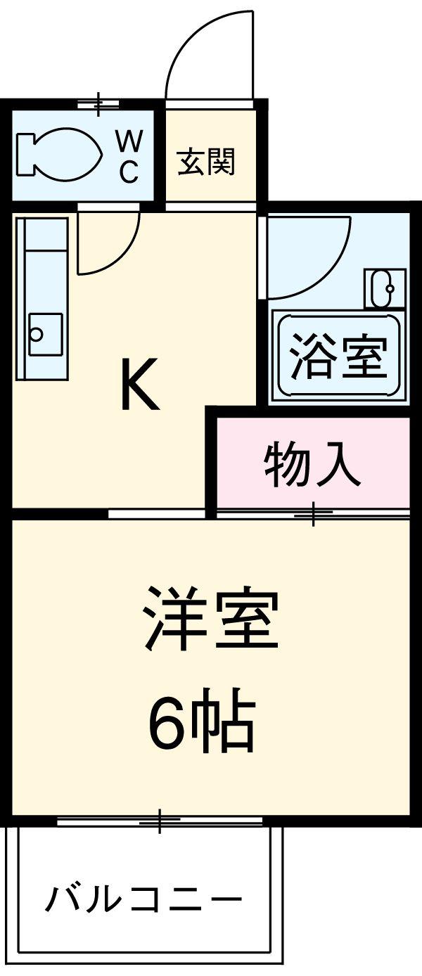 シャトウ山田・205号室の間取り