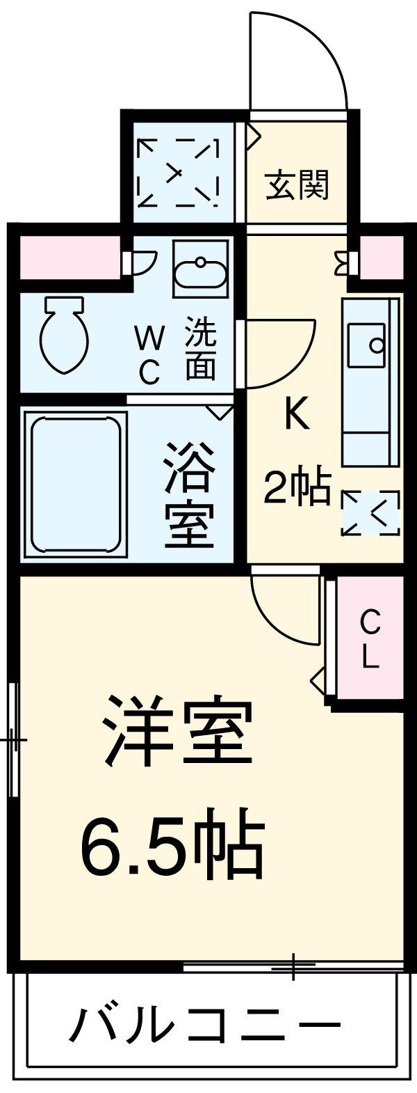 ガーラ・ステーション横浜桜木町・203号室の間取り