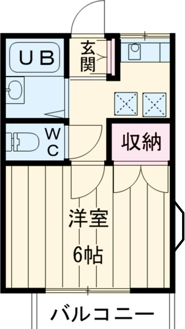 第6松屋コーポ・211号室の間取り