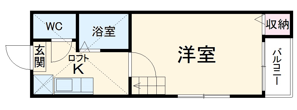 stage西新 205号室の間取り