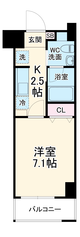 アルステージ武蔵小杉Ⅱ・403号室の間取り